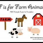 F Is For Farm Animals    Letter F Printables   Free Printable Farm Animals