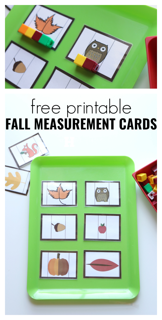 Fall Measurement Cards For Preschool - Free Printable Fall Math - Free Printable Kindergarten Math Activities