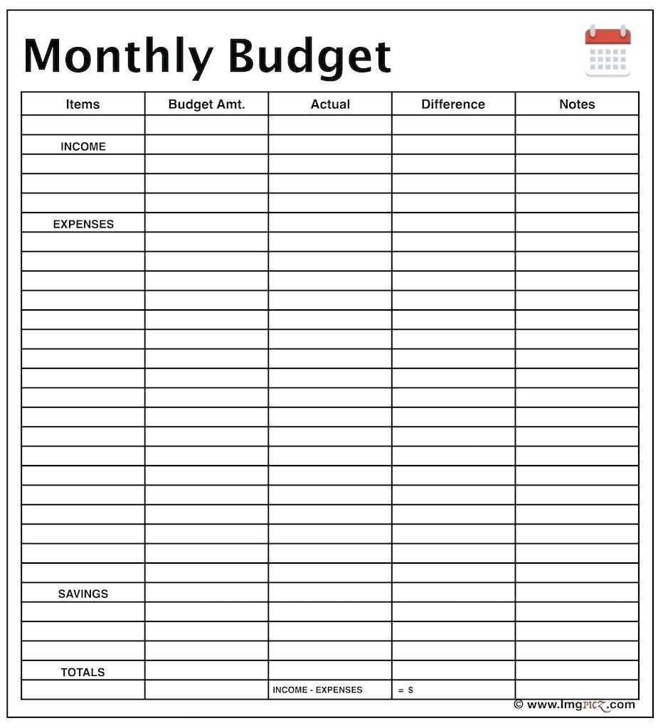 Family Budget Template Income And Expenses Readsheet Ideas Expense - Free Printable Monthly Expense Sheet