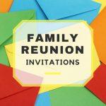 Family Reunion Invitations   Free Printable Family Reunion Invitations