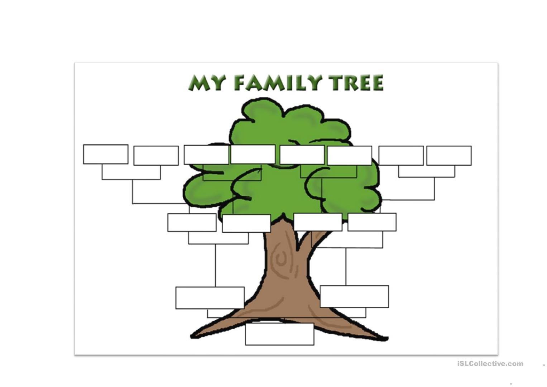 Family Tree Template Worksheet - Free Esl Printable Worksheets Made - My Family Tree Free Printable Worksheets