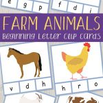 Farm Animals Beginning Letter Clip Cards | Farm | Farm Animals   Free Printable Farm Animals