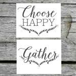 Farmhouse Free Printable Set Gather Choose Joy Welcome Home   Free Printable Quote Stencils