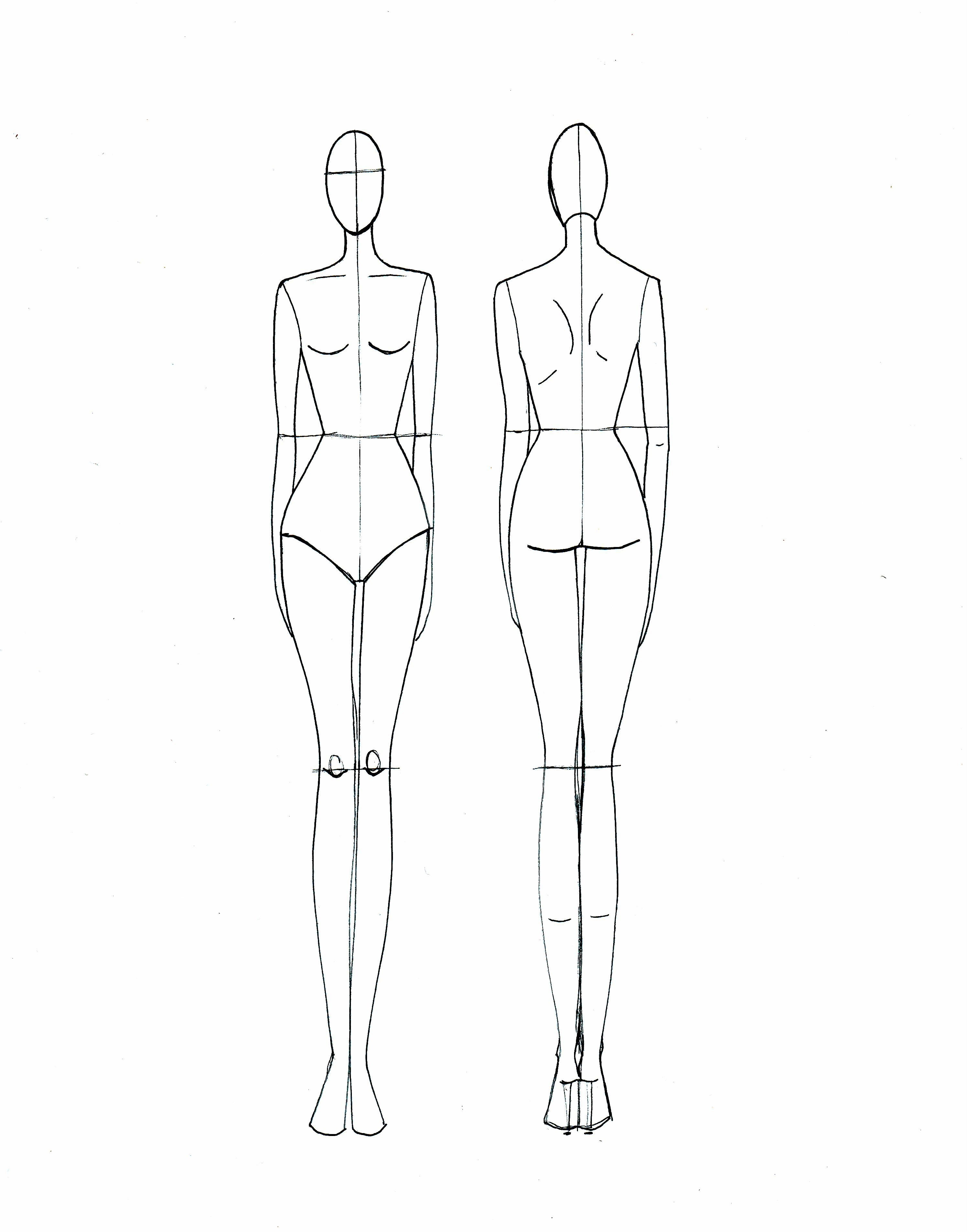 Fashion Drawing Template | For A Rainy Day | Fashion Model Sketch - Free Printable Fashion Model Templates