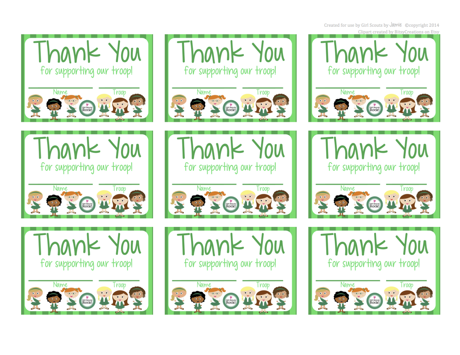 Fashionable Moms: Girl Scouts - Free Printable Thank You Cards - Free Printable Eagle Scout Thank You Cards