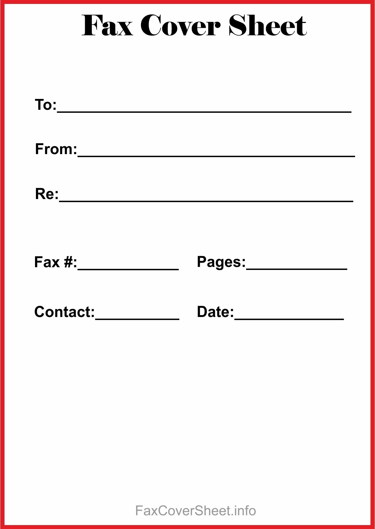 Fax Cover Sheet Fillable New Free Fax Cover Sheet Template - Free Printable Fax Cover Page