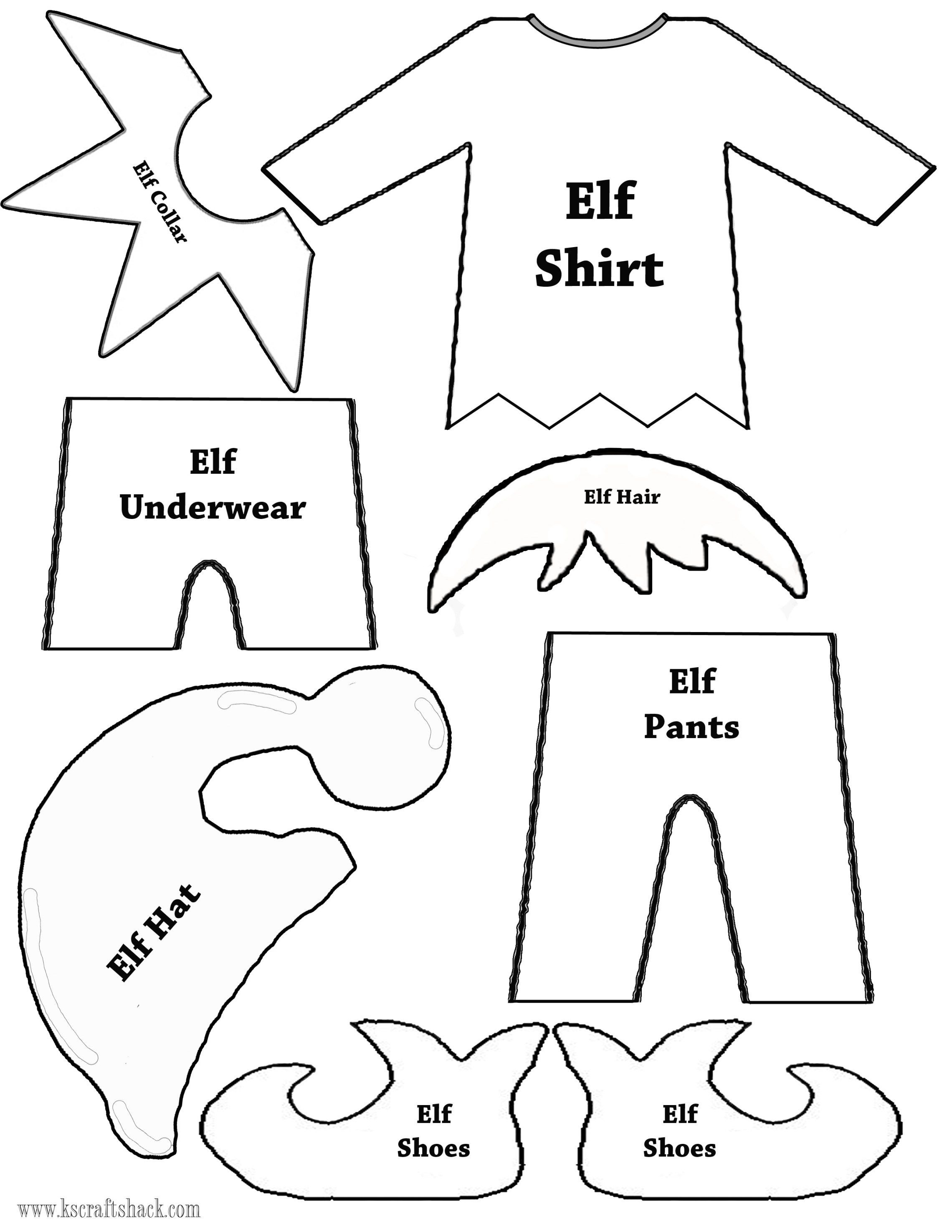 Felt Elf On The Shelf Doll | Christmas Decor | Christmas Elf, Elf - Free Printable Elf Pattern