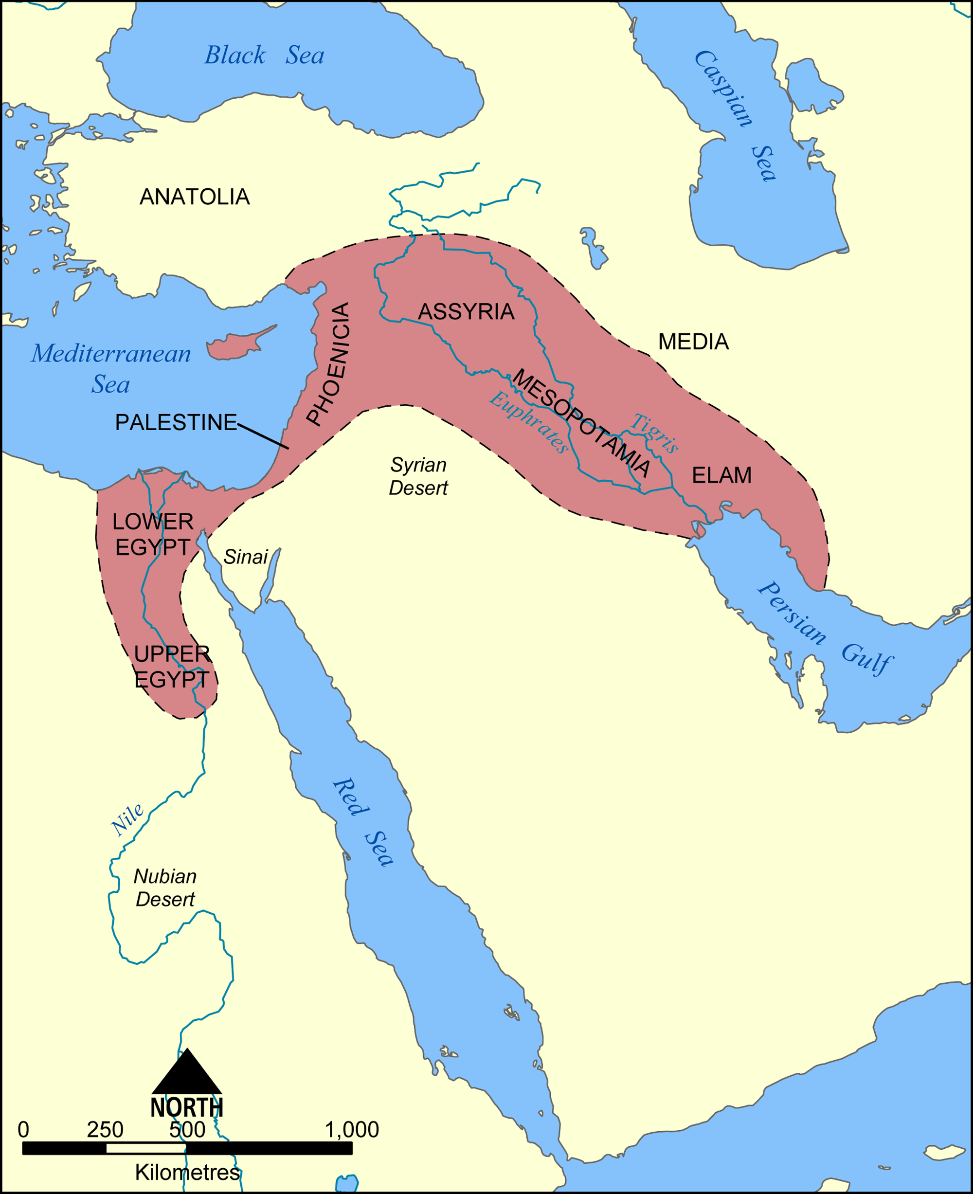 Fertile Crescent Map - Color Week 1 | Cycle 1 Geo | Cradle Of - Free Printable Map Of Mesopotamia