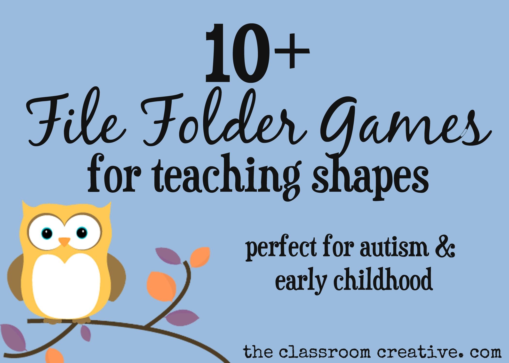 File Folder Games For Teaching Shapes - Free Printable File Folder Games For Preschool