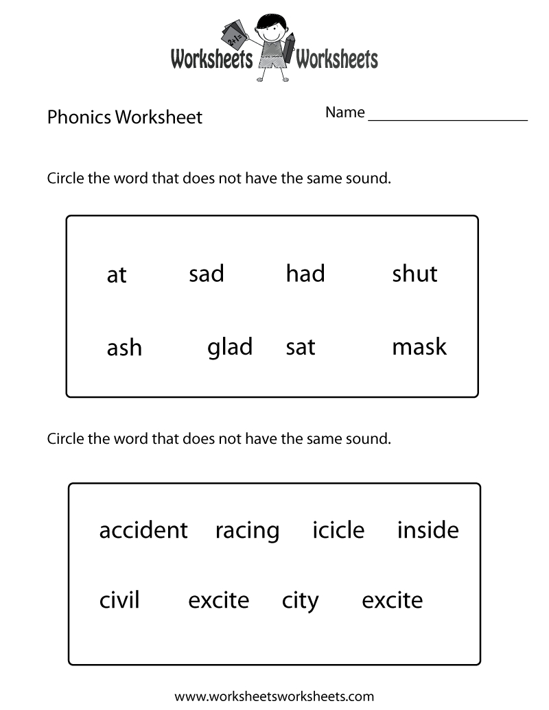 First Grade Phonics Worksheet Printable. The Bottom Part Is Advanced - Free Printable Phonics Worksheets For 4Th Grade