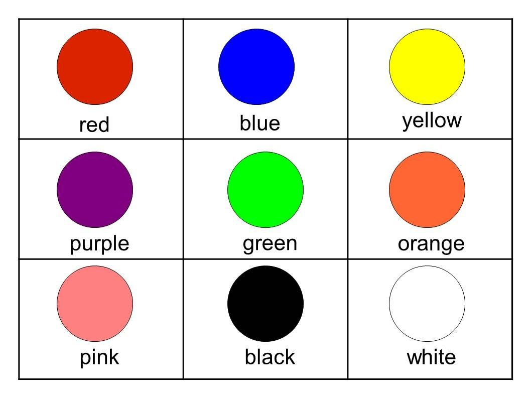Flashcards For Kids Printable Free | Free Flashcards | Free Esl - Free Printable Colour Flashcards