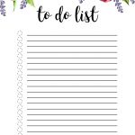 Floral To Do List Printable Template – Paper Trail Design – To Do List Free Printable