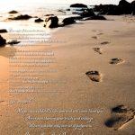 Footprints In The Sand Poem | Beautiful Poem From Only The Bible   Footprints In The Sand Printable Free