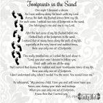 Footprints In The Sand Poem   Svg & Pdf Files   Vector   Clipart   Footprints In The Sand Printable Free