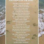 Footprints Poem Wallpaper   Wallpapersafari   Footprints In The Sand Printable Free