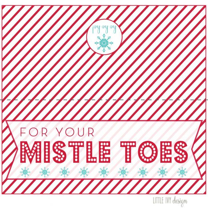 Free Printable Mistletoe Tags