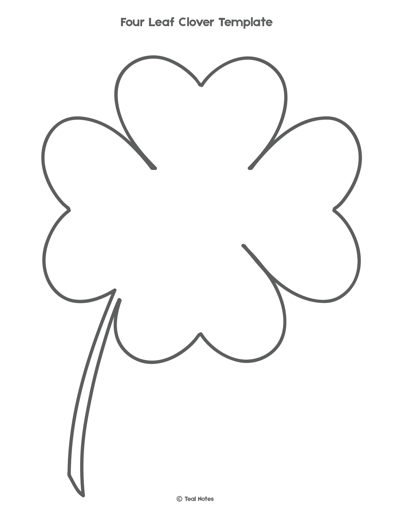 Four Leaf Clover Template: Free Shamrock Template Printable | Free - Four Leaf Clover Template Printable Free