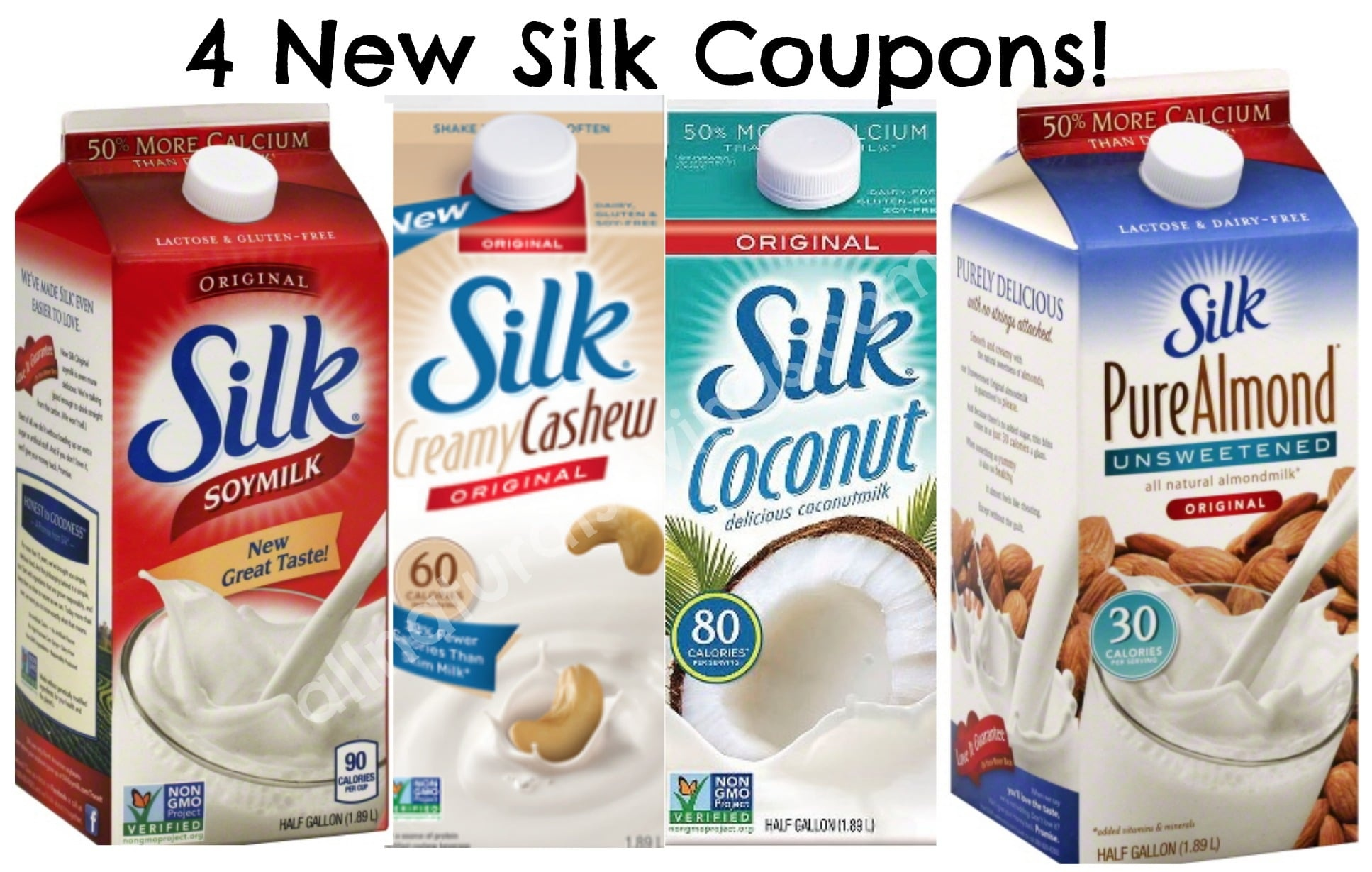 Four New Silk Dairy Free Milk Printable Coupons - All Natural Savings - Free Milk Coupons Printable