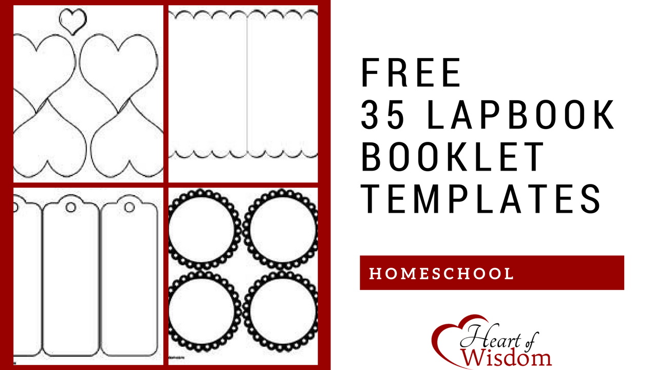 Free 35 Lapbook Booklet Templates – Heart Of Wisdom - Free Printable Lapbook Templates