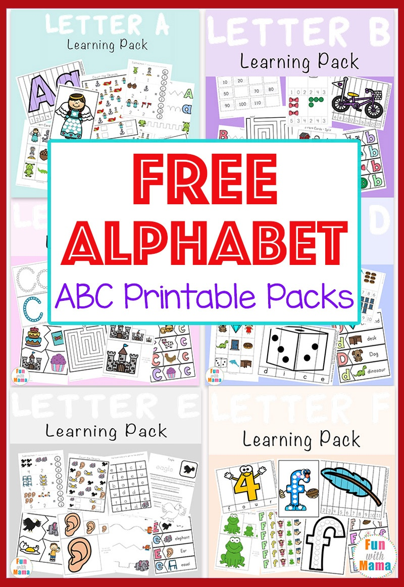 Free Alphabet Abc Printable Packs - Fun With Mama - Free Printable Alphabet Pages