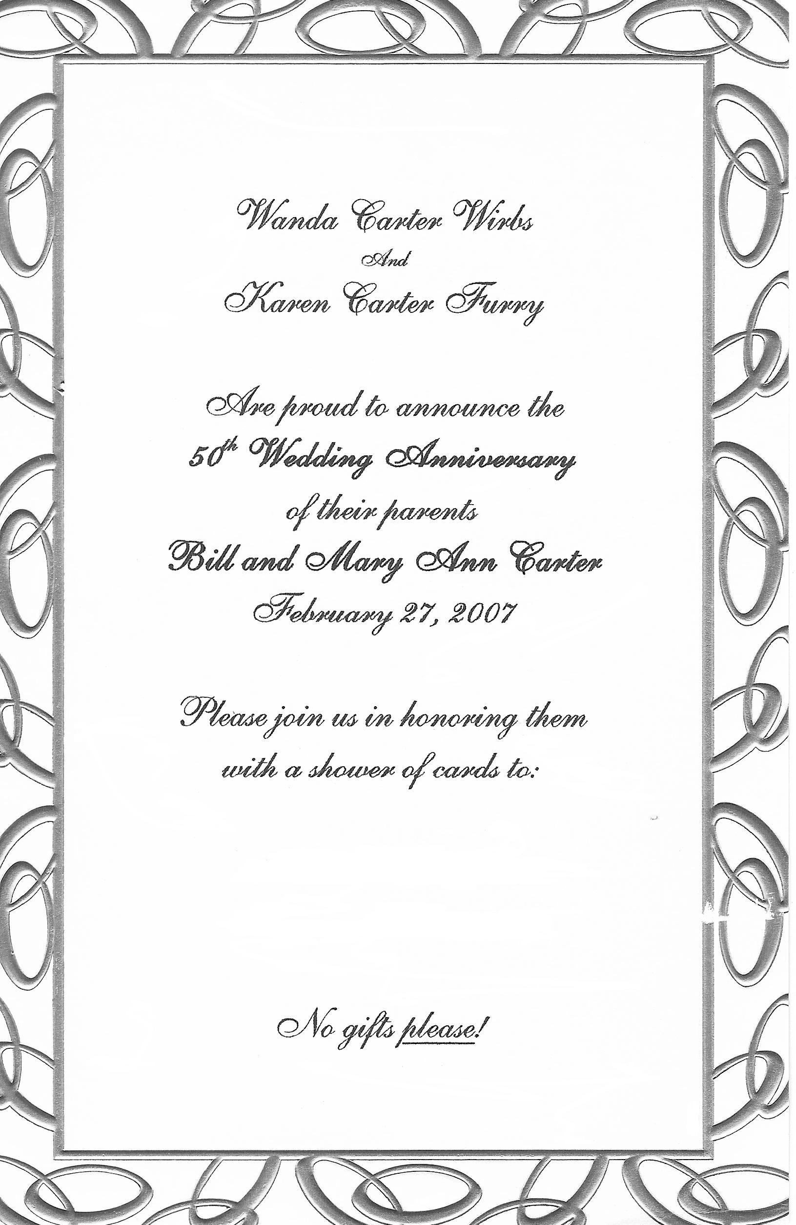 Free Anniversary Invitation Cliparts, Download Free Clip Art, Free - Free Printable 50Th Anniversary Cards