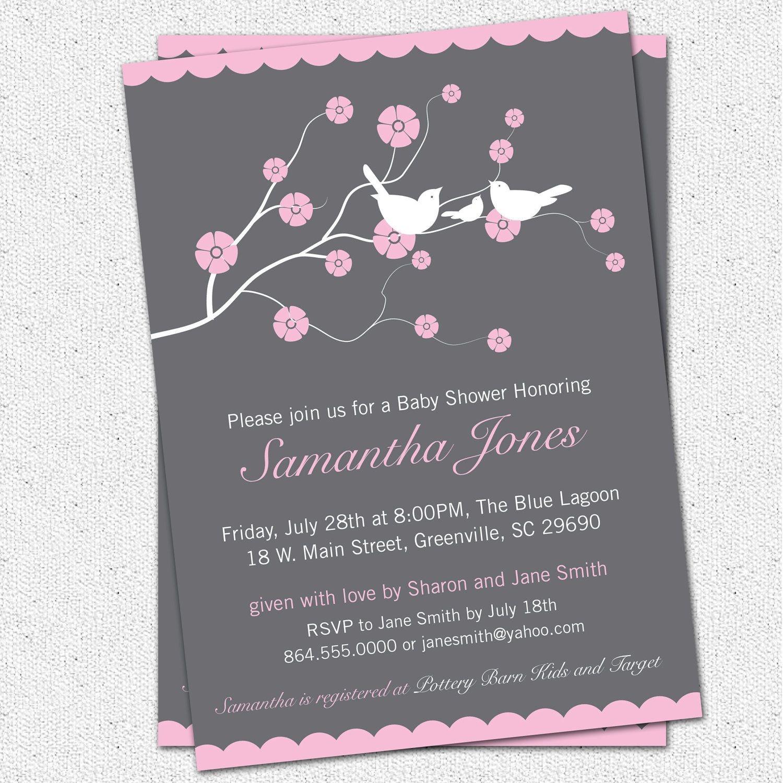 Free Baby Girl Shower Invitations | Printable Baby Shower Invitation - Free Printable Camo Baby Shower Invitations