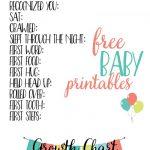 Free Baby Printables: Track Milestones | >> Free Printables | Baby   Free Printable Baby Memory Book