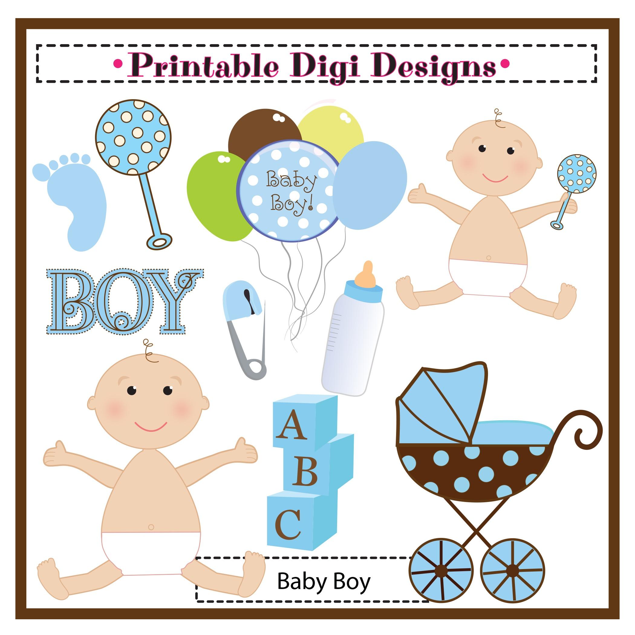 Free Baby Shower Clip Art For Boys – 101 Clip Art - Free Printable Baby Shower Clip Art