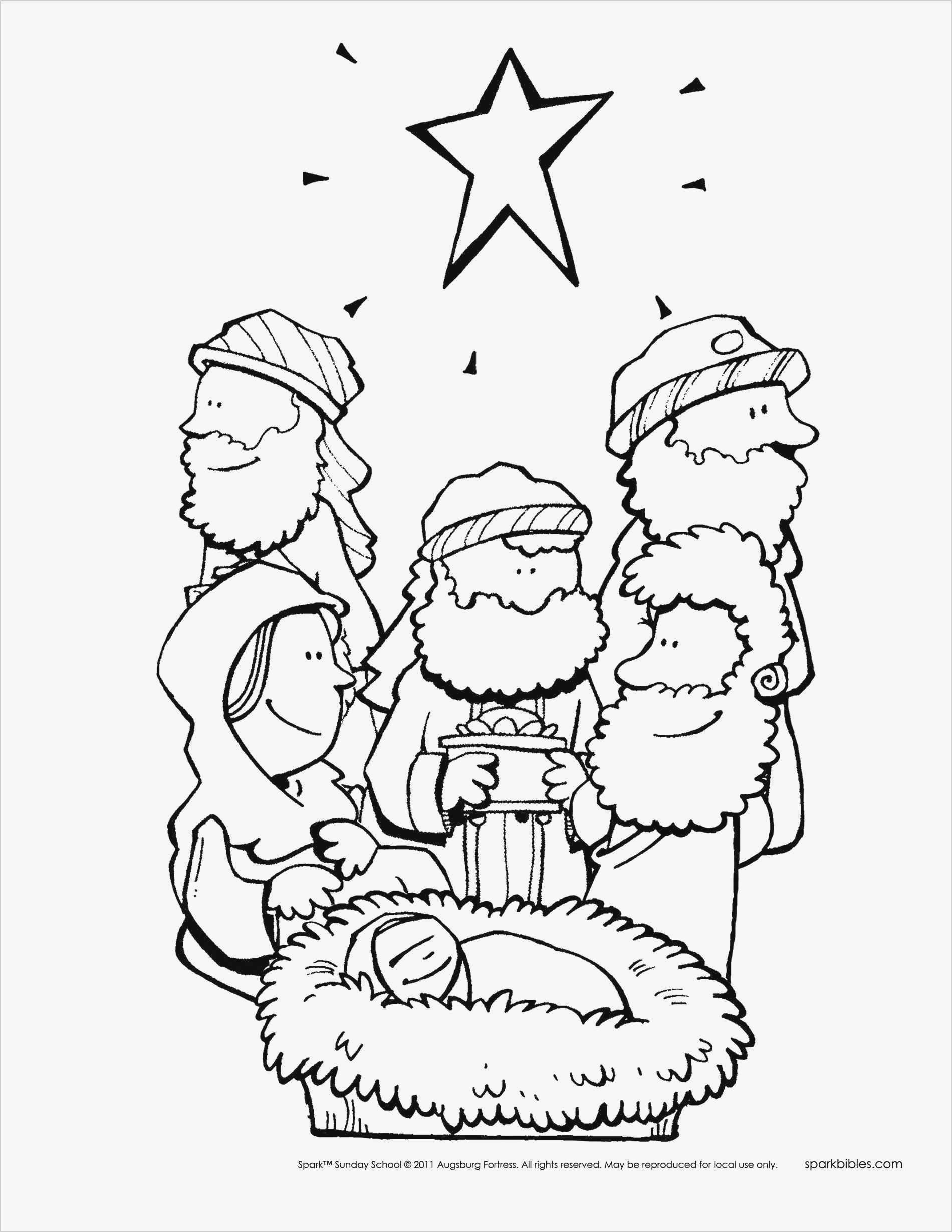 Free Bible Story Coloring Pages Awesome –· Printable Christmas - Free Printable Nativity Story Coloring Pages