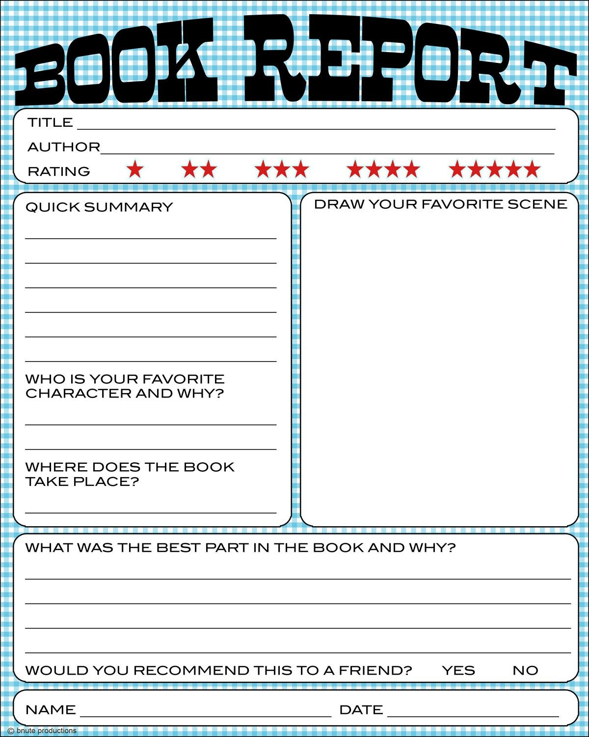 Free Book Report Printable - Great For Lower Primary Grades. It Also - Free Printable Story Books For Grade 2