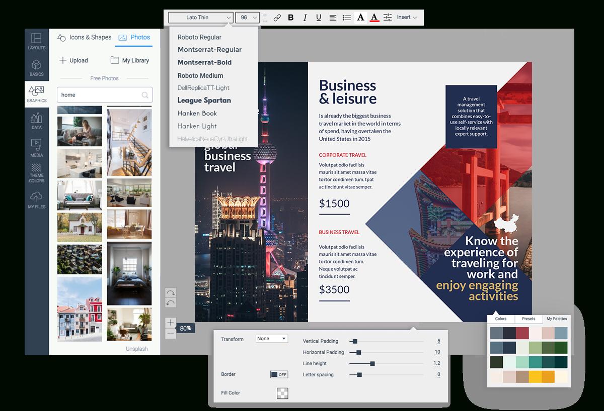 Free Brochure Maker | Brochure Creator | Visme - Online Brochure Maker Free Printable
