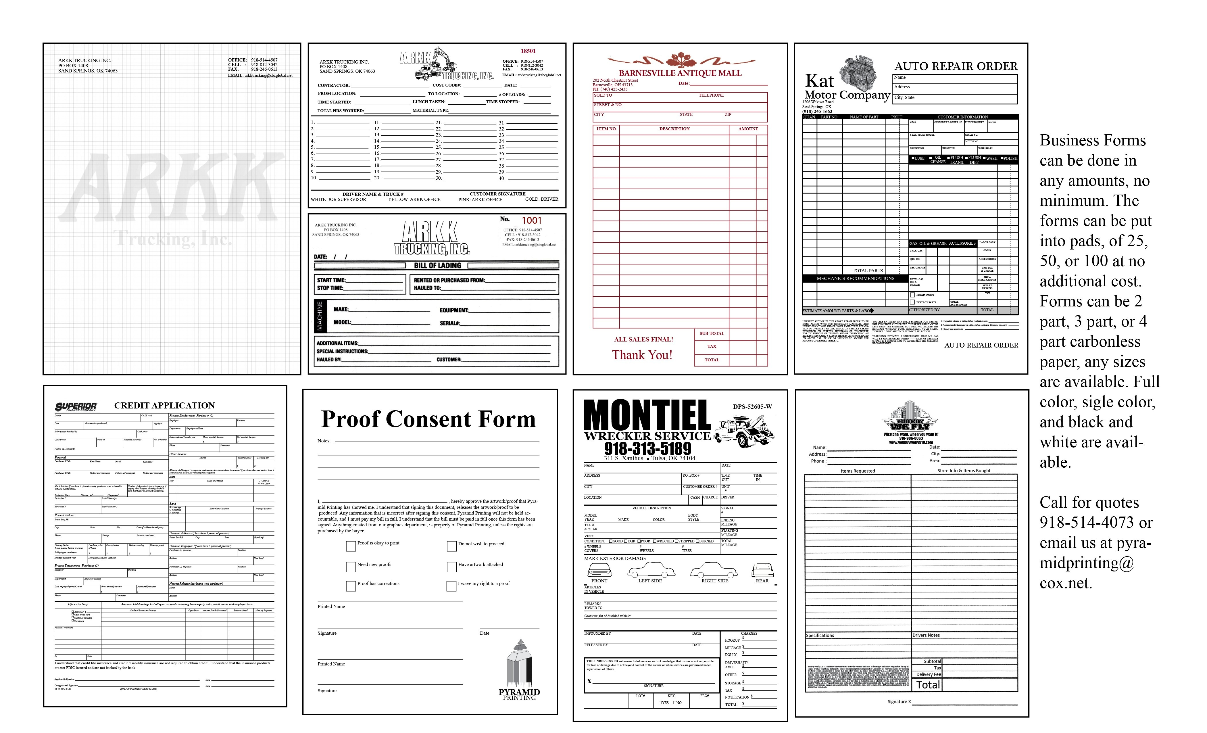 Free Business Forms Printable | Room Surf - Free Printable Business Forms
