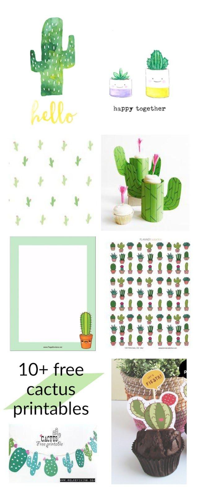 Free Cactus Printables - Kaktus - Round-Up | Printables | Classroom - Free Printable Cactus
