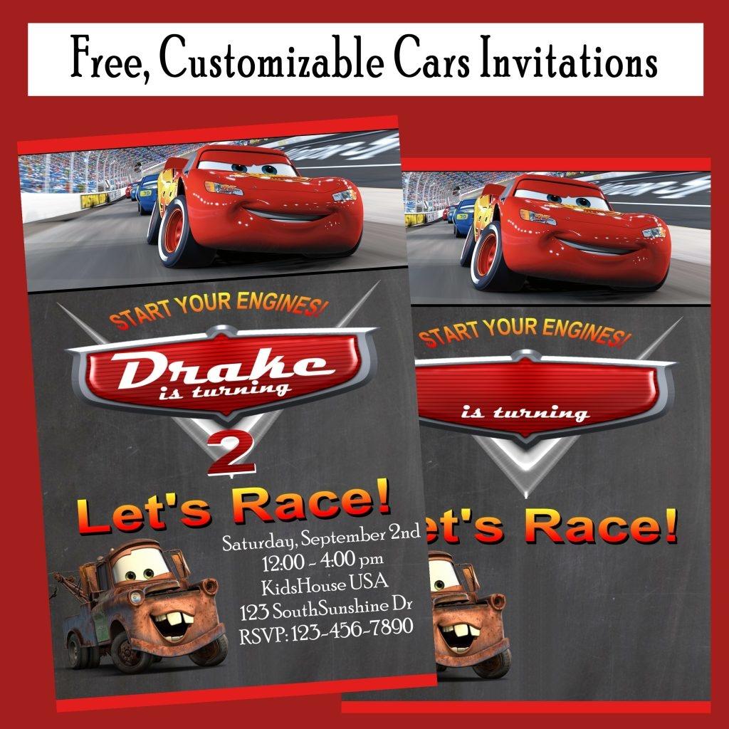 Free Cars Birthday Party Invitations - Printables 4 Mom - Free Printable Disney Cars Birthday Party Invitations