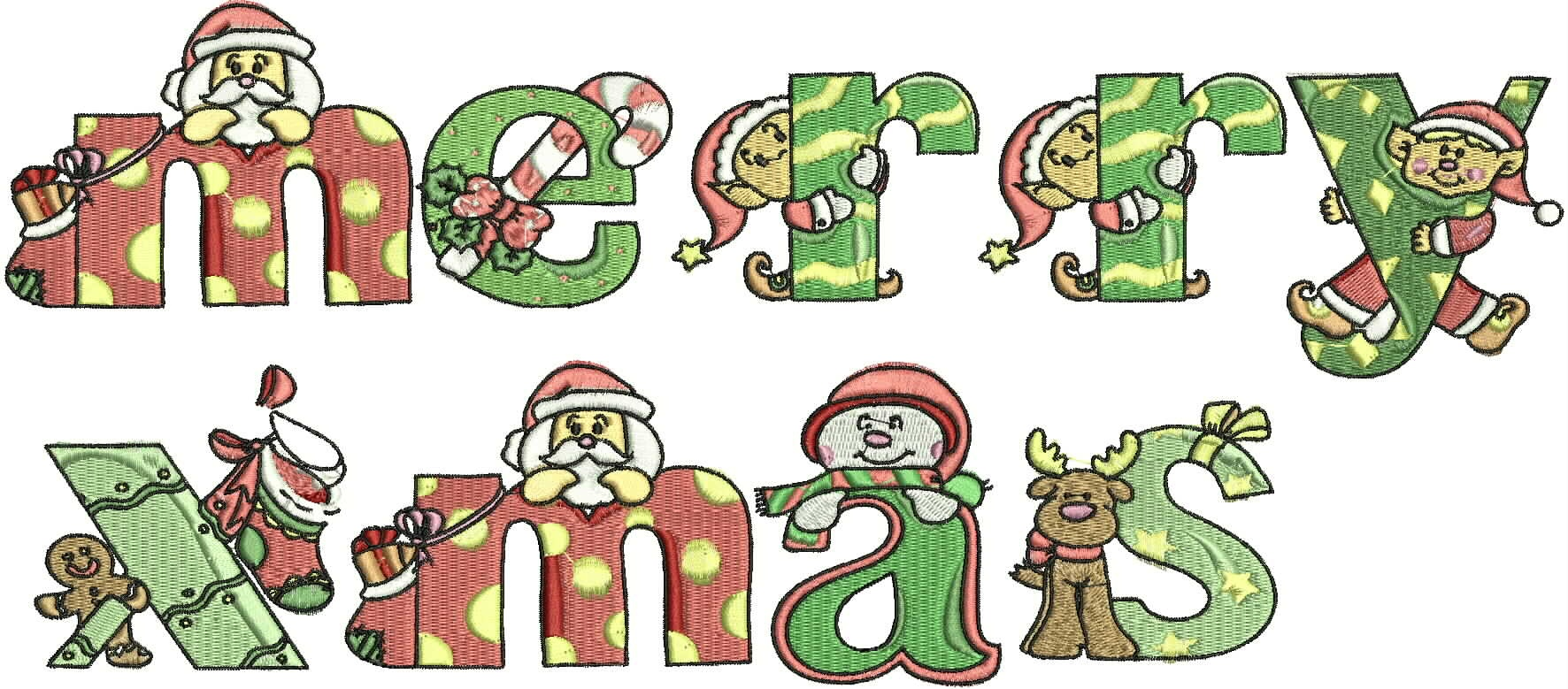 Free Christmas Alphabet Cliparts, Download Free Clip Art, Free Clip - Free Printable Christmas Alphabet