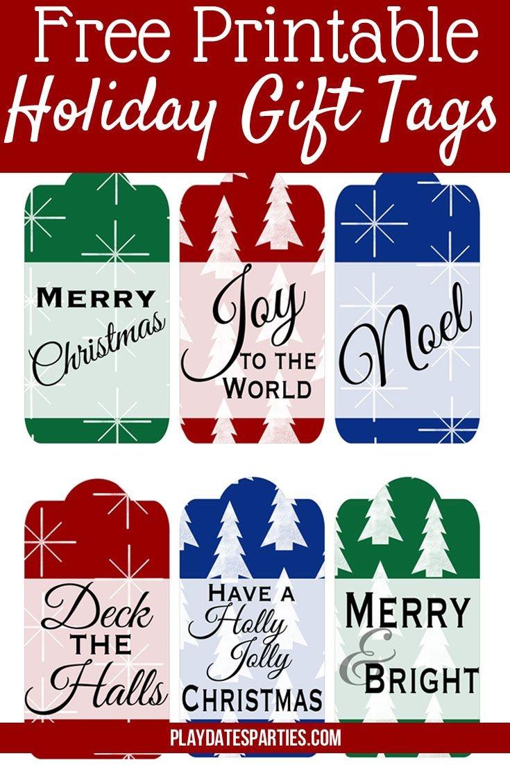 Free Christmas Gift Tags Printable For You (Updated With New Designs - Free Printable Christmas Designs