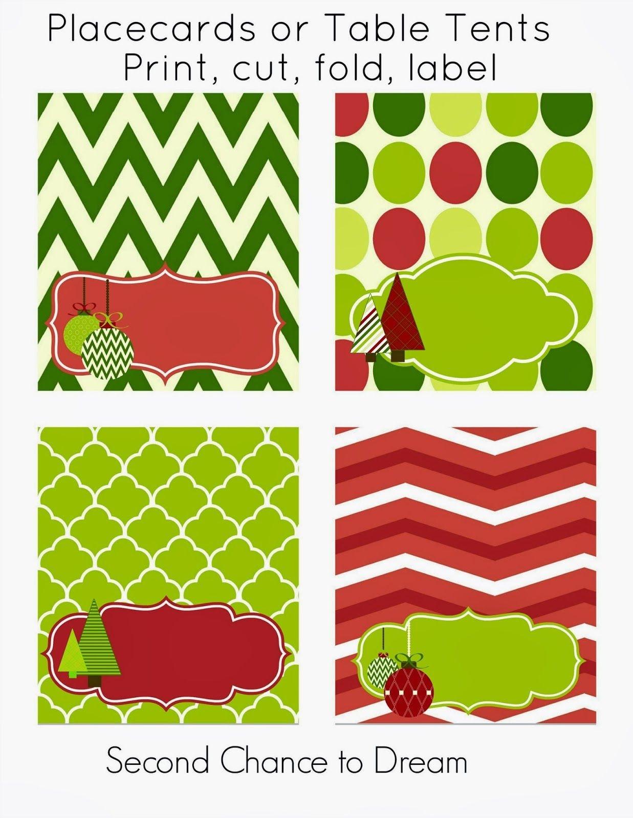 Free Christmas Party Printables | Printables | Free Christmas - Free Printable Christmas Tent Cards