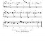 Free Christmas Sheet Music For Easy Piano Solo, O Christmas Tree - Free Printable Christmas Music Sheets Piano