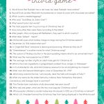 Free Christmas Trivia Game | Lil' Luna   Free Printable Christmas Song Picture Game