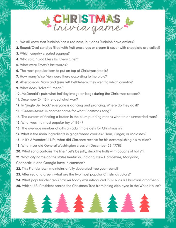Free Printable Trivia Questions For Seniors