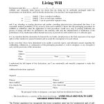 Free Copy Of Living Willrichard Cataman   Living Will Sample   Free Printable Living Will