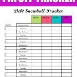Free Debt Snowball Printable Worksheet: Track Your Debt Payoff   Free Printable Debt Payoff Worksheet