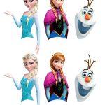 Free Disney Frozen Printable For Cake Pops   Plaatjes   Frozen   Frozen Cupcake Toppers Free Printable