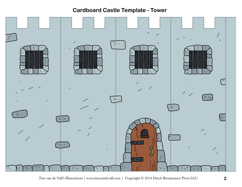 Free Diy Cardboard Castle For Kids | Build Your Own Cardboard Castle - Free Printable Castle Templates