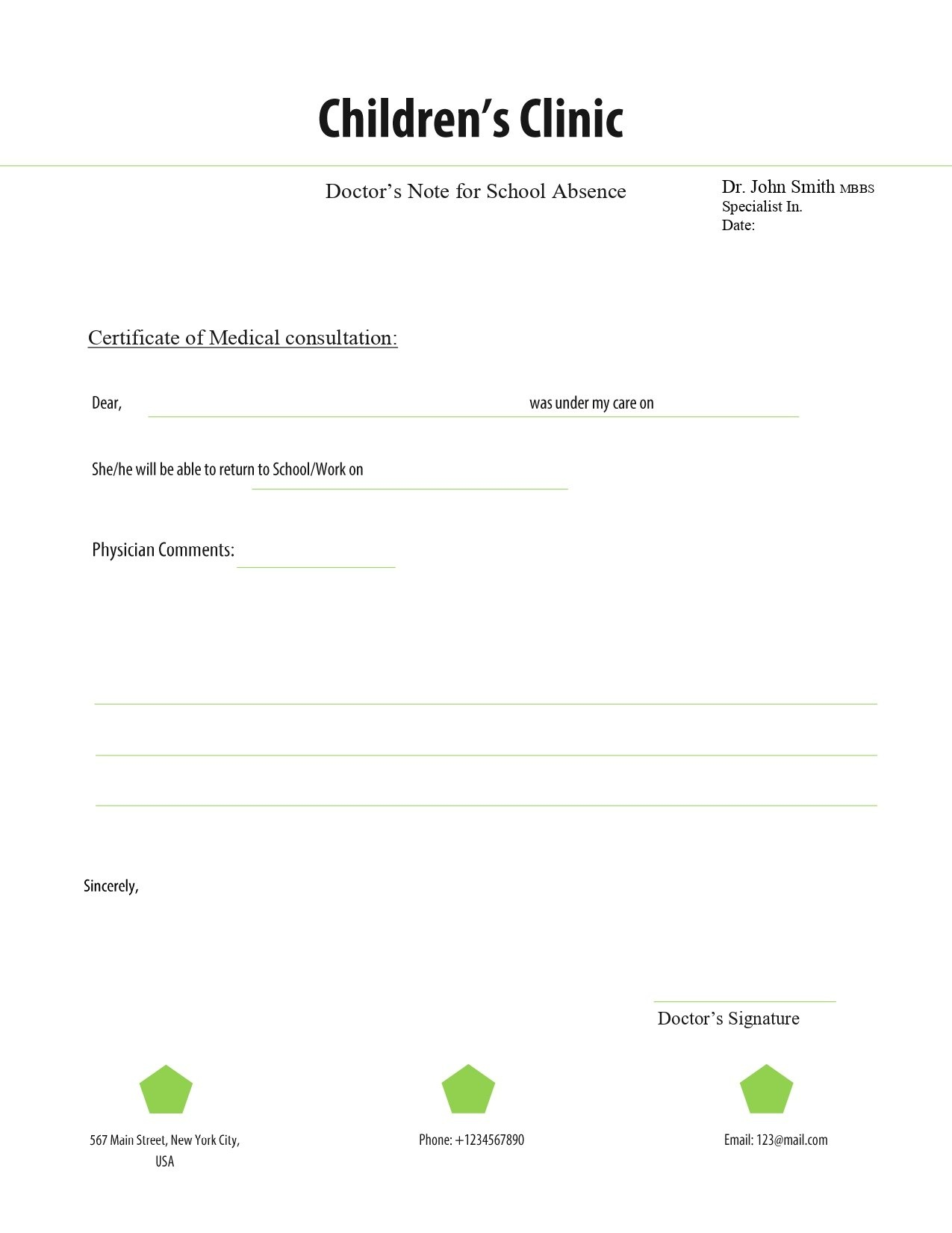 Free Doctors Note Template - Free Printable Doctor Notes