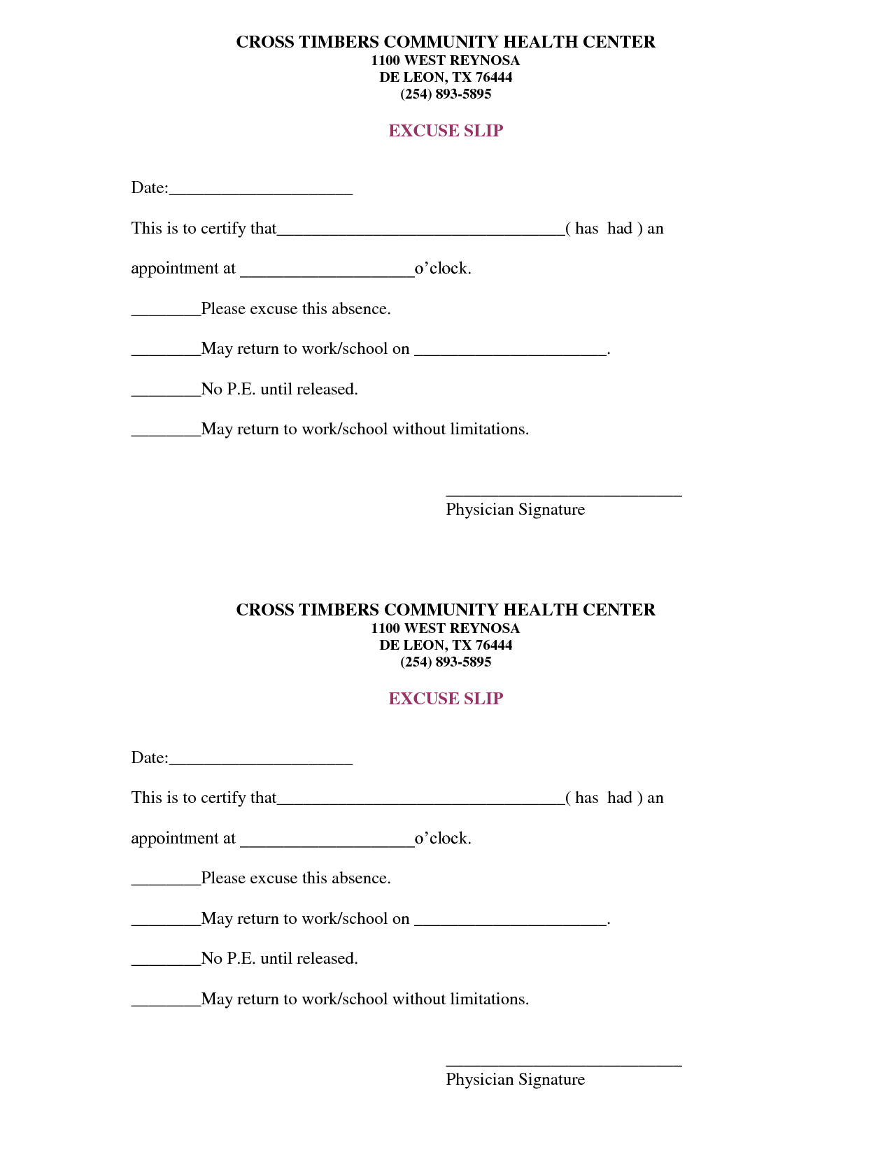 Free Doctors Note Template | Scope Of Work Template | On The Run - Free Printable Doctor Excuse Notes