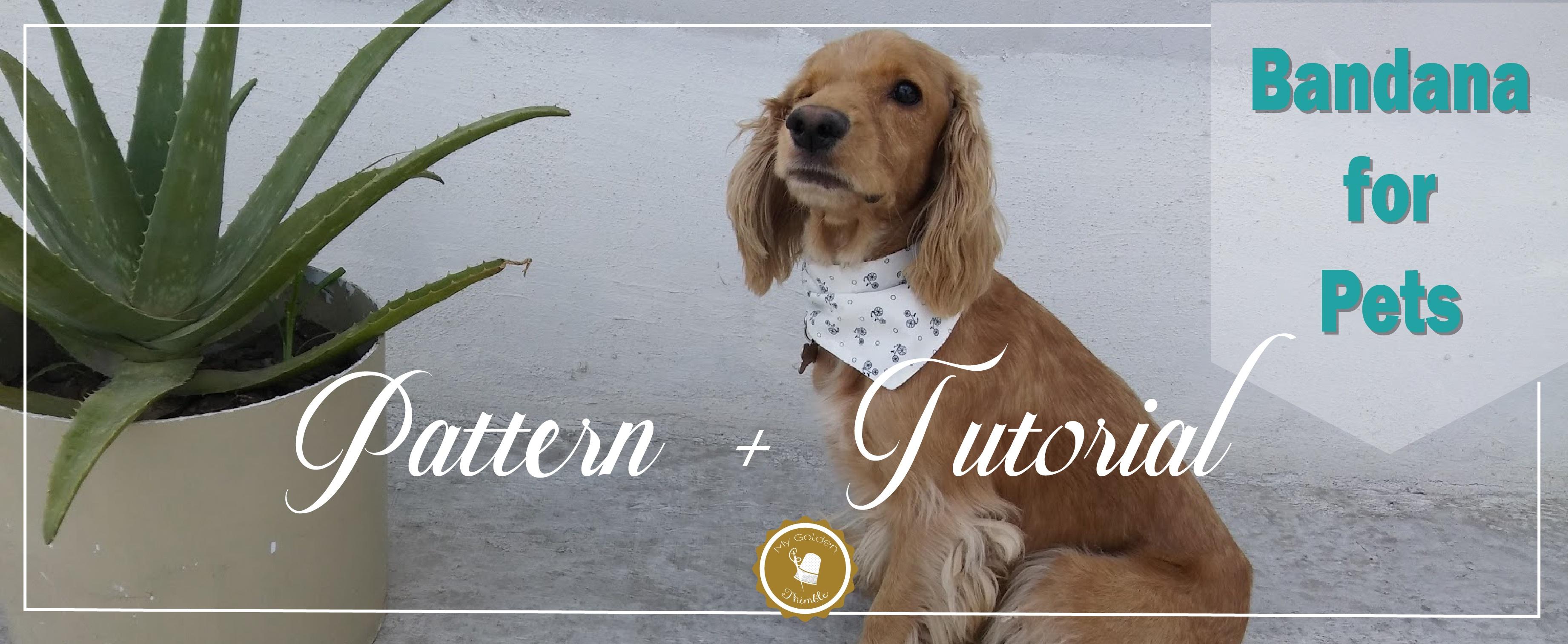 Free Dog Bandana Pattern Diy: For All Sizes! | My Golden Thimble - Dog Sewing Patterns Free Printable