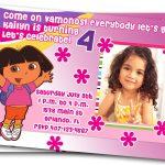 "Free Dora Birthday Card Invitations €"" Birthday Card Ideas | Diy   Dora Birthday Cards Free Printable"