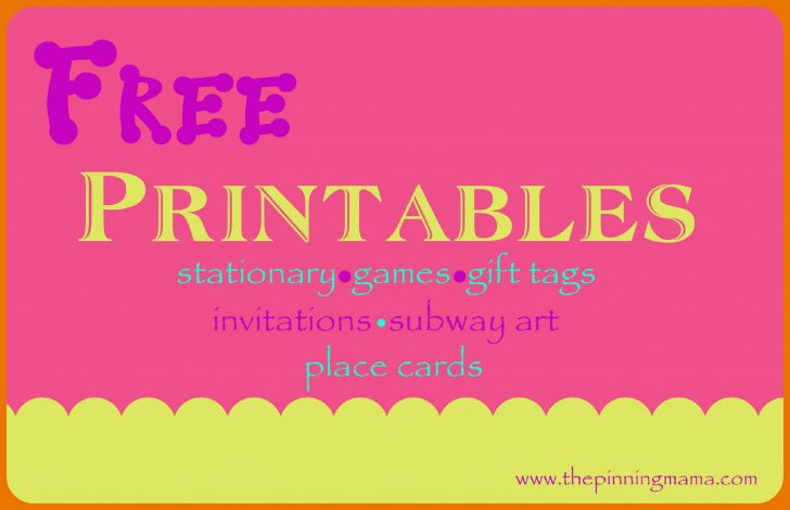 Printable Invitation Templates Free Download
