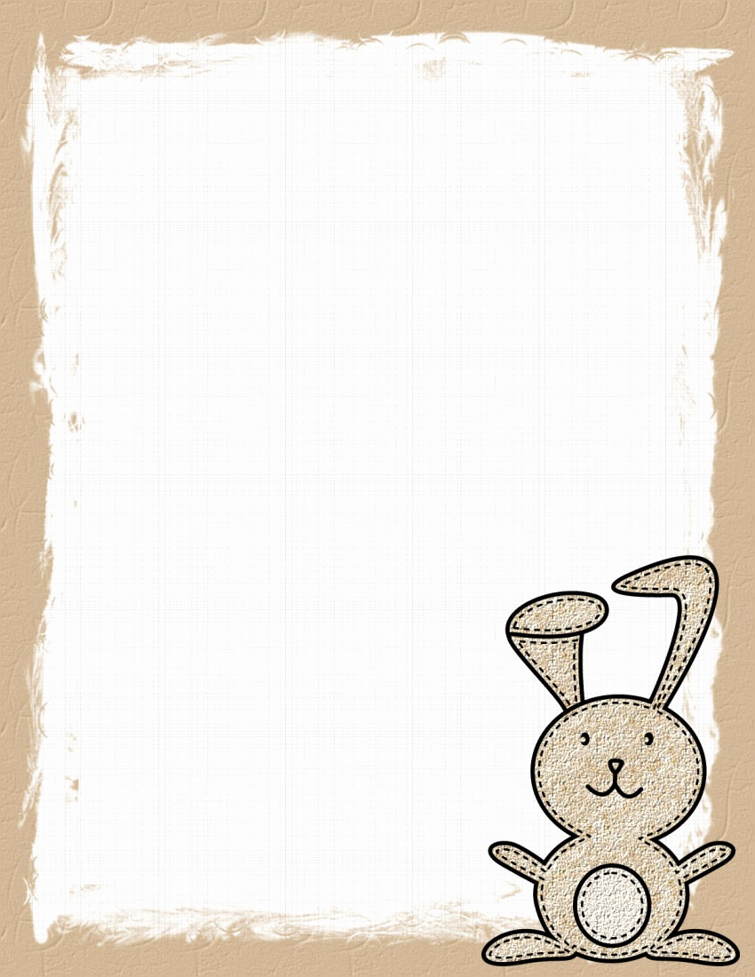 Free Easter Bunny Letterhead Easter Stationery 2 Theme Free Digital - Free Printable Easter Stationery